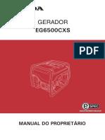MANUAL DO PROPRIETÁRIO HONDA EG6500CXS