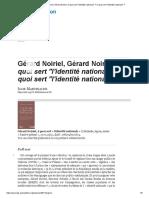 Noiriel_ A quoi sert _l'identité nationale