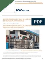 Juguera mexicana es punta de lanza en tratamiento de aguas en Álamo, Veracruz