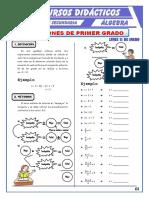 Ecuaciones de Primer Grado Para Tercero de Secundaria (1)
