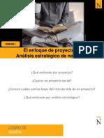EL ENFOQUE DE PROYECTOS Y ANALISIS ESTRATEGICO
