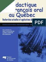 La didactique du francais oral au Quebec (French Edition) ( PDFDrive )