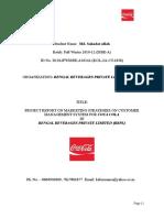 Final Internship Report Coca-cola