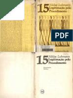 Legitimação pelo procediment Luhmann