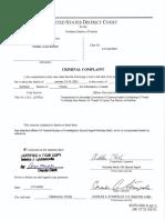 Criminal Complaint (Baker)(Filed)