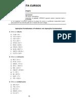 Lista de matemática