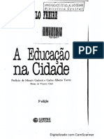 FREIRE, Paulo - A educação na cidadania (Considerações Preliminares)
