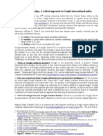 Google manifest destiny. A critical approach to Google international policy