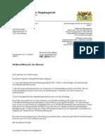 Verfügung des AG München vom 16.12.2010 gegen die Sach KE