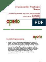 Aperio_Social Entrepreneurship - ChallengesChanges