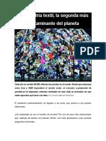 Sánchez, C. La industria textil, la segunda más contaminante del planeta