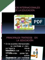 ACUERDO INTERNACIONALES DE LA EDUCACIÓN