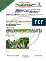 PROYECTO AGRICOLA 10°. GUÍA DE APRENDIZAJE No.1 PRIODO 1
