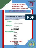 diseño sismico informe