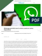 Whatsapp permitirá usar la misma cuenta en varios dispositivos _ El Blog de Personal1