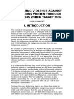 PREVENTING VIOLENCE AGAINST INDIGENOUS WOMEN THROUGH PROGRAMS WHICH TARGET MEN