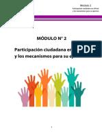 Módulo 2 - Participación ciudadana en el Perú y los mecanismos para su ejercicio
