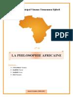 Exposé _ La philosophie Africaine