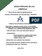 PRESTAMOS A EMPRESAS VINCULADAS Y SU INCIDENCIA CONTABLE EN EE.FF DE LA EMPRESA DHMONT (1)