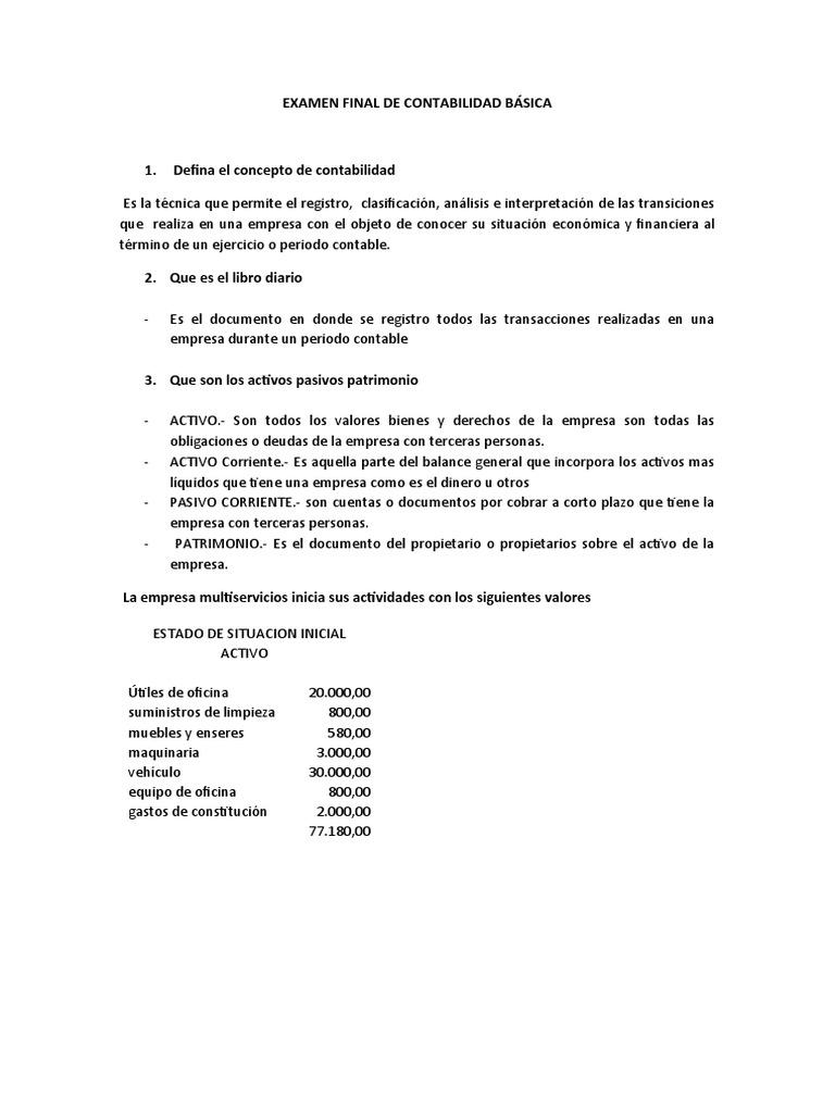 EXAMEN FINAL DE CONTABILIDAD BÁSICA - photo#37