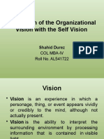 Integration of the Organizational Vision With the Self