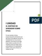 I_UNIDAD EL SENTIDO DE APRENDER SOBRE ÉTICA