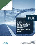 Q3 2019 IJGlobal League Tables