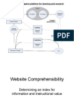 Website Comprehensibility Research Design