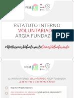 ESTATUTO INTERNO DE VOLUNTARIADO DE ARGIA FUNDAZIOA (1)