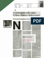 """O Português pelo cano. Como chama o leitor a isto? - artigo jornal """"i"""" 18-fev-11"""