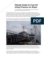 The Ultimate Guide to Fuel Oil Bunkering Process on Ships