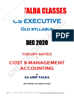 Theory Notes of Costing_DEC 2020