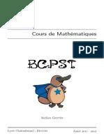 Cours de Maths BCPST