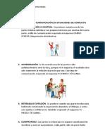 PROCESO DE LA COMUNICACIÓN EN SITUACIONES DE CONFLICTO