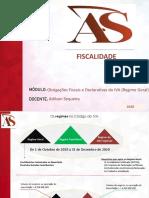 AS - Obrigações Fiscais e Declarativas do IVA (RG)