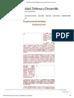 PLANIFICACIÓN ESTRATÉGICA _ Seguridad, Defensa y Desarrollo
