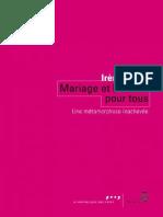 (La République des Idées) Irène Théry - Mariage et filiation pour tous _ Une métamorphose inachevée-Seuil (2016).pdf