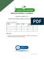 Redacción Científica y Académica - PRODUCTO ACADEMICO Nº1