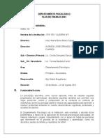 AREA DE PSICOLOGIA PLAN DE TRABAJO