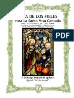 II Domingo Después de Epifanía. Guía de los fieles para la santa misa cantada. Kyrial Orbis Factor