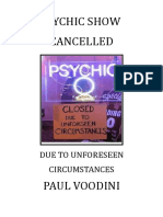 Paul Voodini - Psychic Show Cancelled!