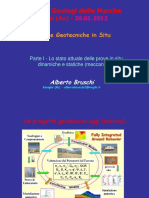 Bruschi A. (2012) - Parte 1 e 2 – Lo stato attuale delle prove in sito dinamiche e statiche