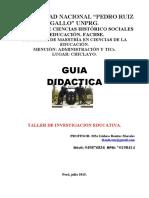 CIX Guía Didáctica Taller de Investigación Educativa