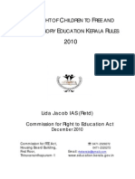 The Right of Children to Free and Compulsory Education Kerala Rules – 2010