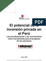 El potencial de la inversión privada en el Perú