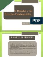 Semana 4 - Sujetos de Derecho y Derechos Fundamentales