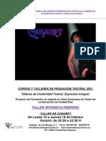 Teatro de La Sensacion-taller de Cabaret Febrero 2021
