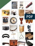 Musikinstrumente Kärtchen