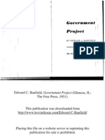 Edward C. Banfield, Government Project