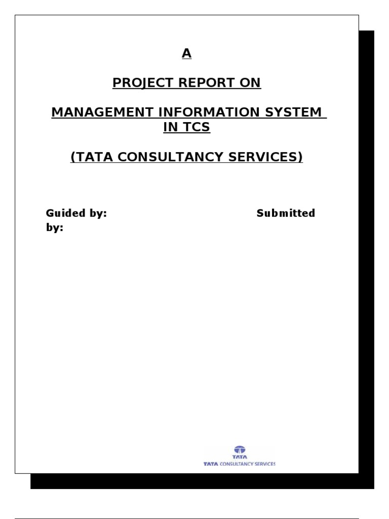 MIS-TATA CONSULTANCY SERVICES-FINAL | Information System | Employment